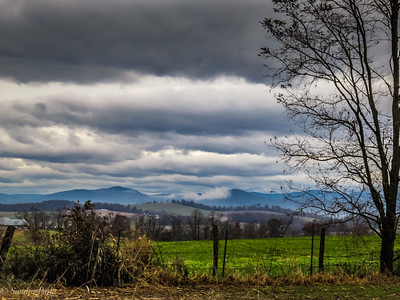 11-13-18: Mountains and clouds, Centerville