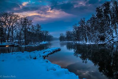 12-10-18: Blue sunrise