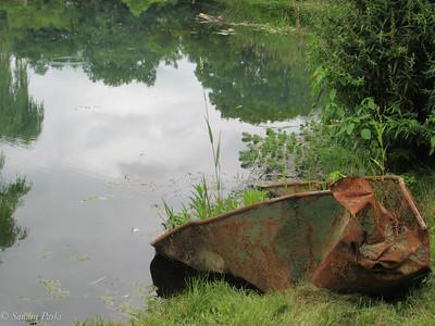 7-21-18: old boat, Spring Creek