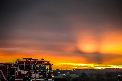 9-18-18: Fire truck at sunrise