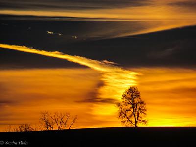 12-7-18: Sunset, Dry RIver.