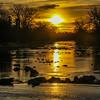 1-8-18: North River sunrise, on the dam
