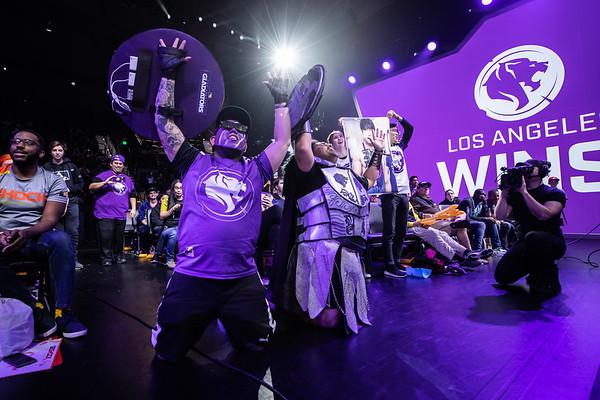 Los Angeles Gladiators fans