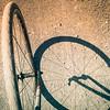 5-28-19: Bike wheels on a gravel road