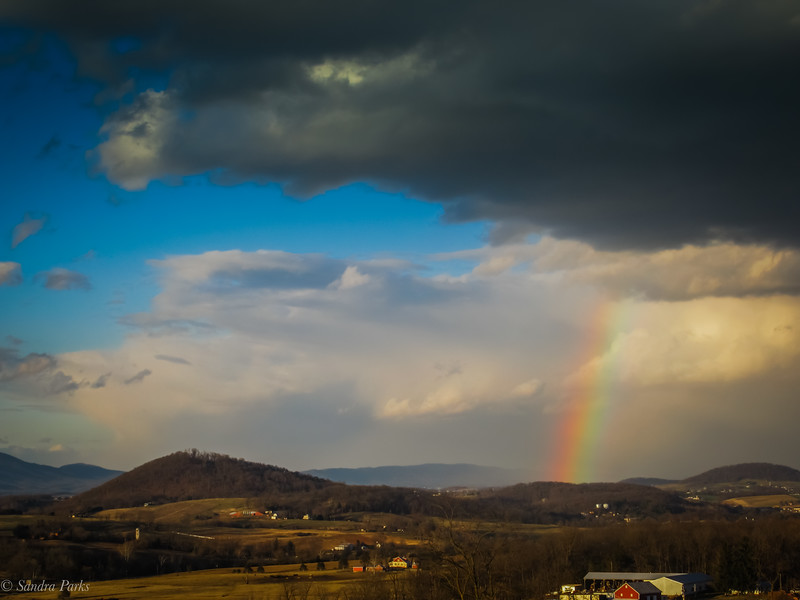 1-8-19: Watching a rainbow on the county line