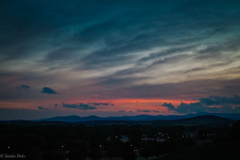 6-30-19: Night falls on my little town