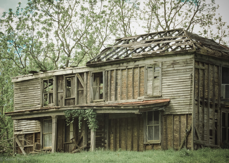 5-4-19: old house, near Stribling Springs