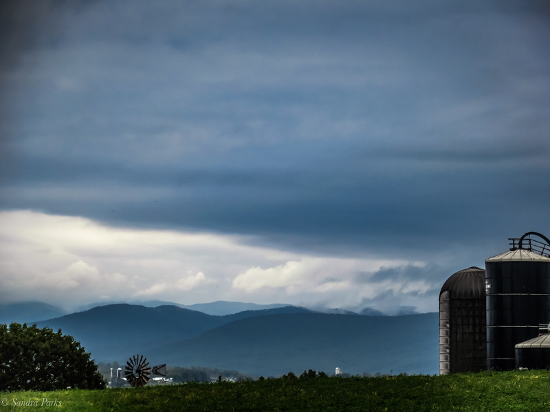 10-7-19: Mountains and clouds, Rushville.