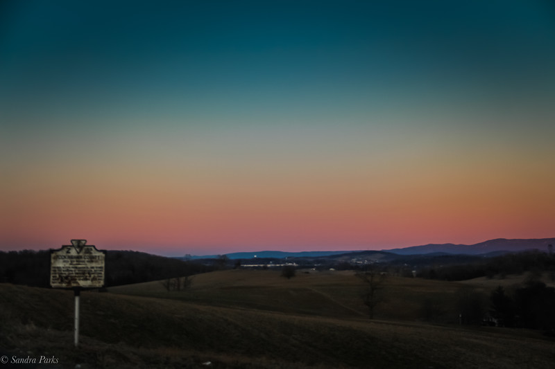 1-30-18: Sunset, county line.
