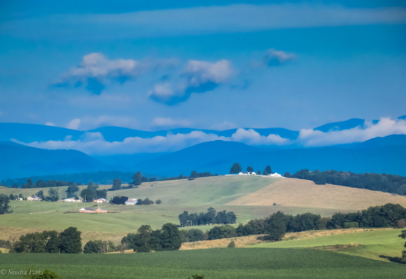7-10-19: Clouds tucked into the Alleghenies