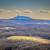 Pilot Mountain, from the Angel Overlook, Meadows of Dan