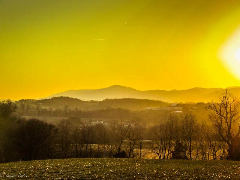 2-27-19: Alleghenies, as the sun prepares to go down.
