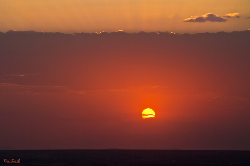 A smokey haze from fires in Arizona and New Mexico helped create a colorful sunset here in El Paso, Texas.