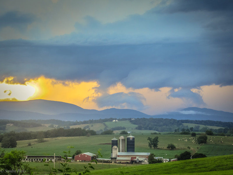 7-12-2020: Evening sky, on Centerville