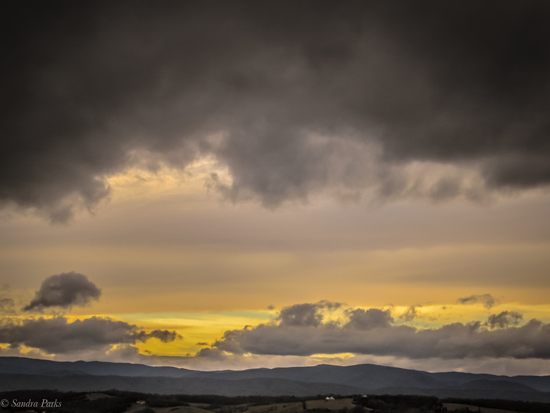 2-13-2020: Mountains and clouds