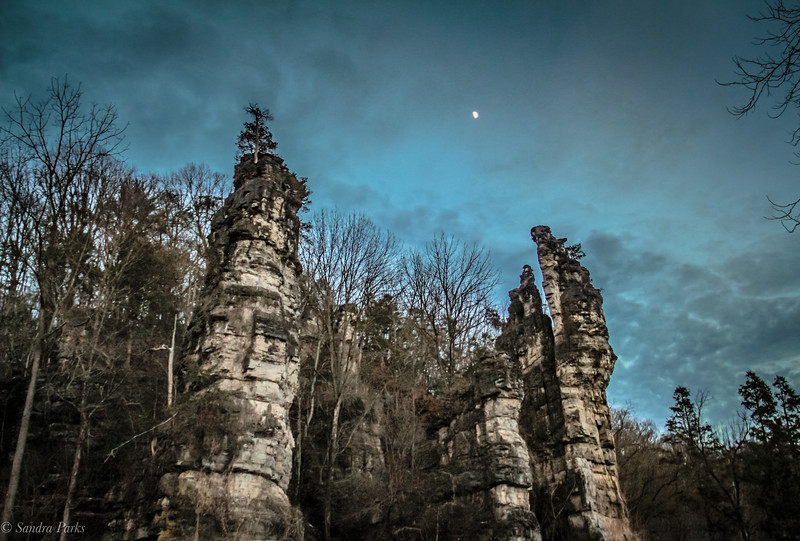 12-23-2020:  Moon over the Chims