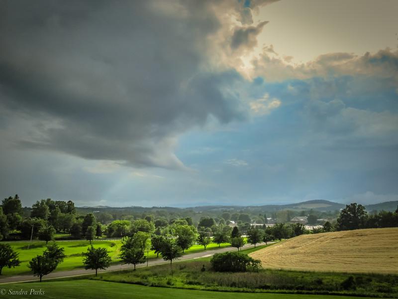 6-5-2020: Storm clouds above Bridgewarer