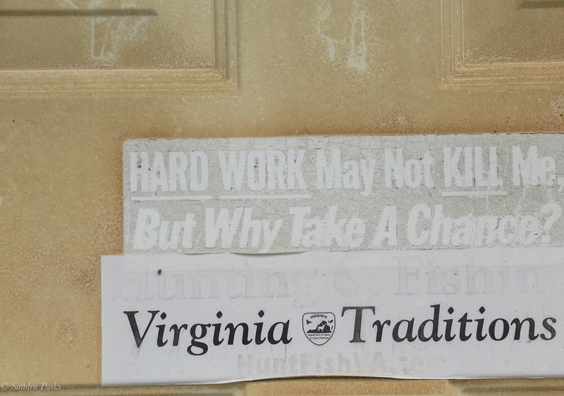 5-24-2020: Door sign, Stokesville.