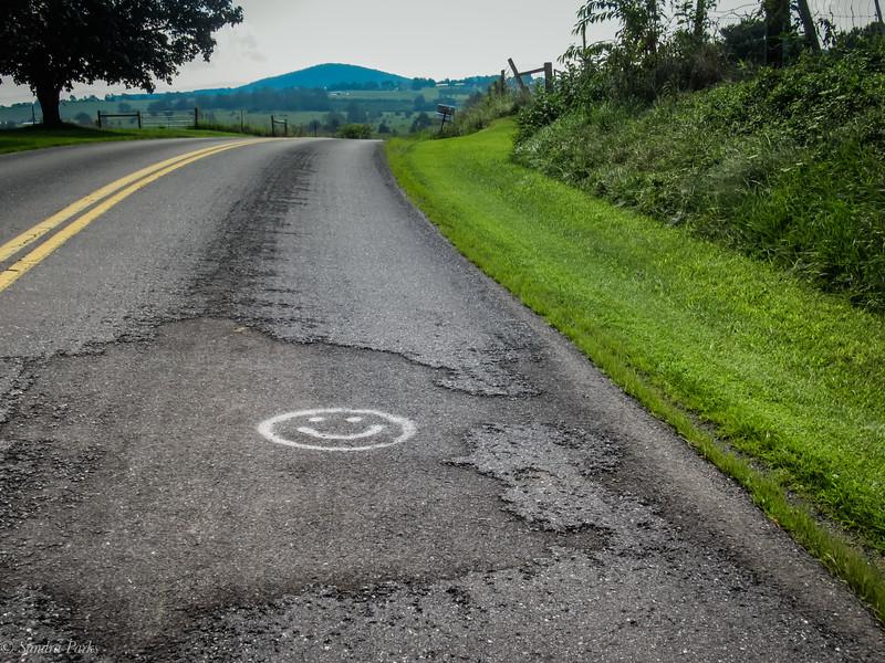 8-10-2020: The road ahead, today.  Profanity Hill.