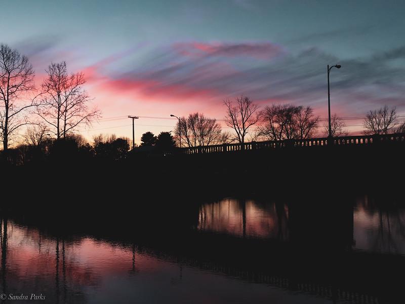 1-9-21: SUnset at the bridge