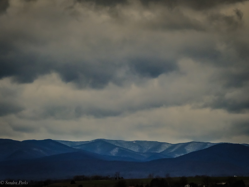 1-17-2021: Mountains and clouds