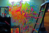 my mural attempt in my 1st room at 21st Street Co-op in Austin, Texas<br /> 2013