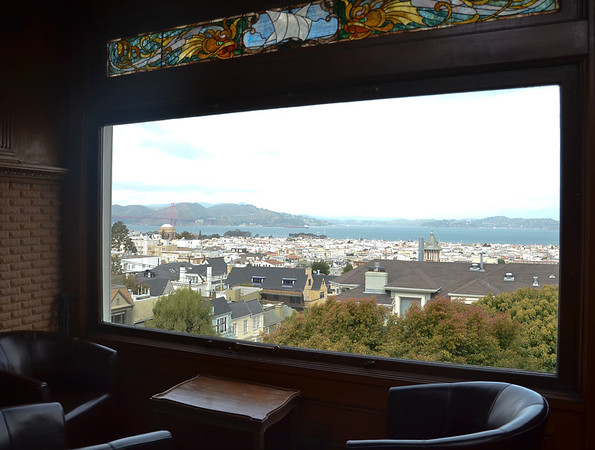 Northwest view of the SF Bay Area from the living room