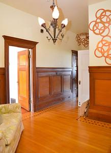 NW view interior hallway