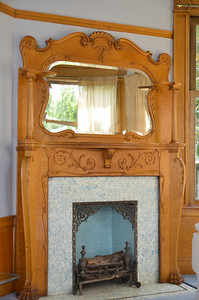 East view fireplace and mantle