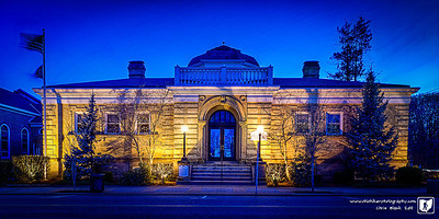 Andrew Carnegie's foundation built 2,509 libraries around the world from 1883 and 1929.  In 1902 Gallpolis was granted $12,500 for a library.  The building is now the home of the Administative Offices for Gallipolis City Schools.  This is a 5 exposure HDR, 2 position panorama.