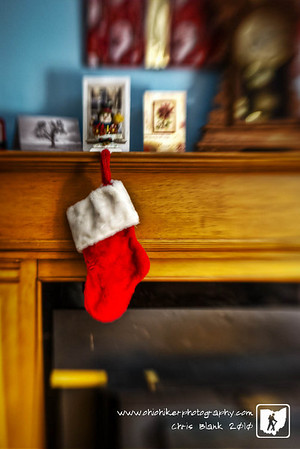 This evening seeing the stockings hanging by the chimney reminded me of the poem