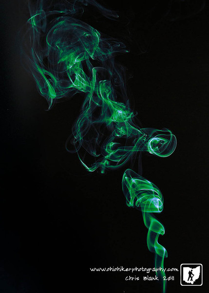 I have played around with photographing smoke before.  I was going for something different tonight to be used for an upcoming composite shot were I would need the smoke shot.