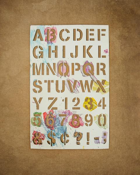 Stencil Alphabet Fun
