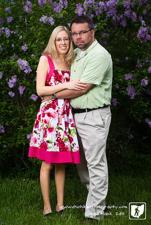 After church today I setup for a family photo.  After the family photo I took a few of me and Steph. This was one of my favorites.