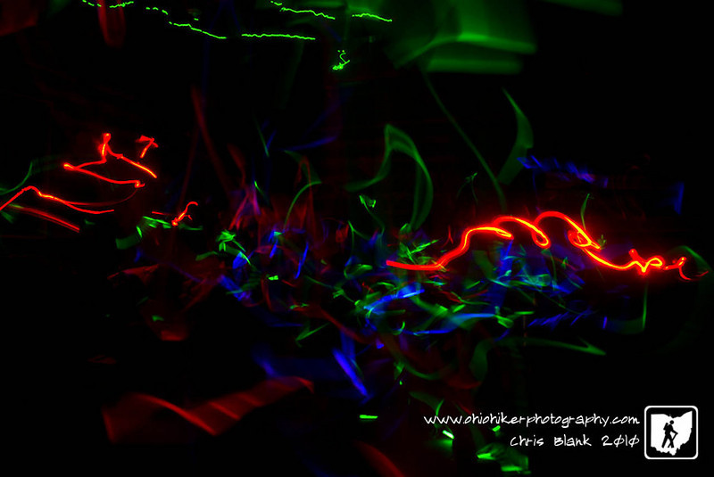 What happens when you give 10 cub scouts glow sticks in a dark room?