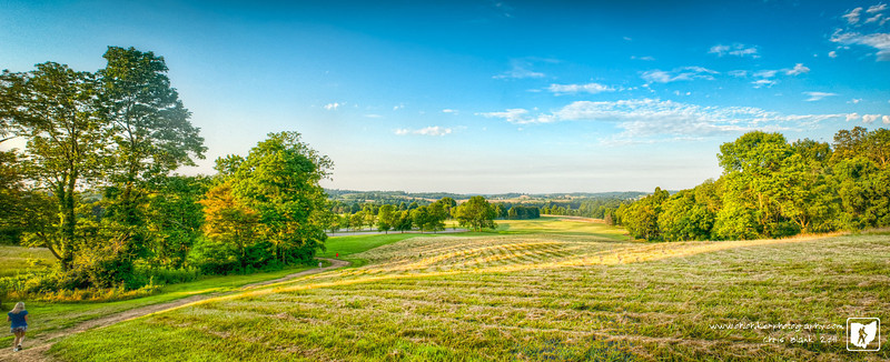 Out for a hike this evening and stopped for few minutes for some photographs.  Stitched together a quick panorama from an overlook.
