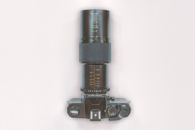Yashica FX-3 with 90mm lens