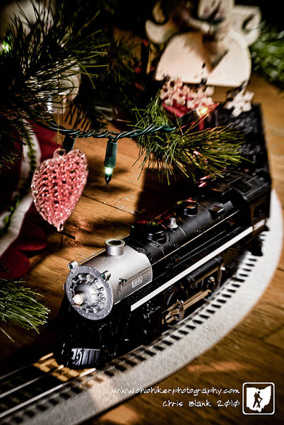 I can always remember having a train under the tree.  It is a Christmas tradition.  The boys have been running the train the last few days.  They are just like we used to be running the train as fast as they can until it comes off the track.