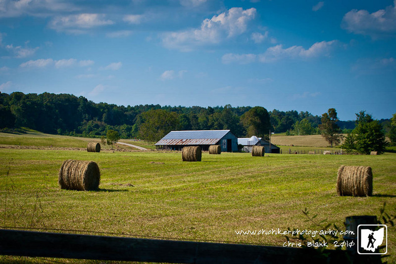 As fall approaches, farmers are putting up possibly the last of the hay.  Round bales of hay are part of the landscape this time of year in southern Ohio.