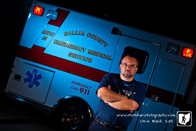 I work full time as a ground Paramedic and Part Time as a Flight Medic. It has been a while since I had done a self portrait, so this evening while at work I setup a self portrait.  Luckily we did not have any runs while I set this up.