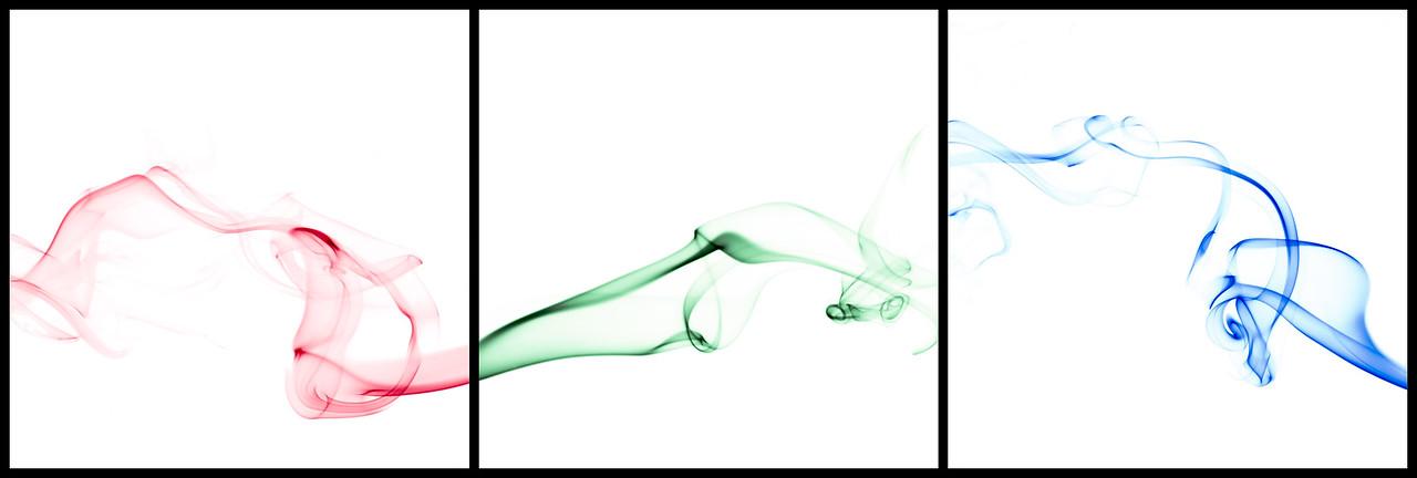 Color and Smoke II - RGB Triptych