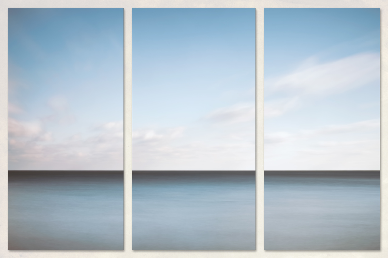 Lake Michigan Minimalist Triptych photograph