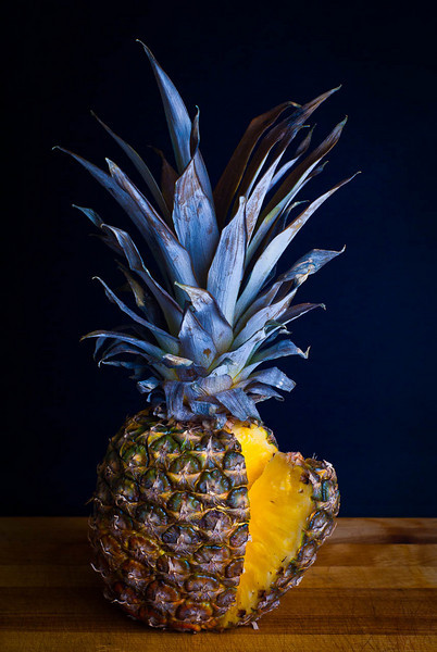 I bought this pineapple Friday for my picture when I had a change of plans.  So today was the pineapple's day.