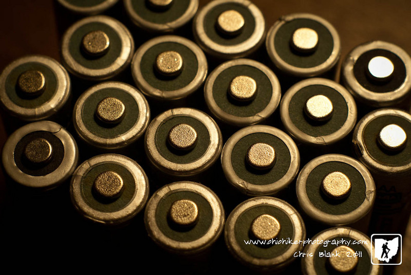 I have quite a collection of rechargable AA batteries for my small flashes.  I have 3 flashes and 3 sets of batteries for each flash.  A constant rotation of moving these through the charger and flashes.