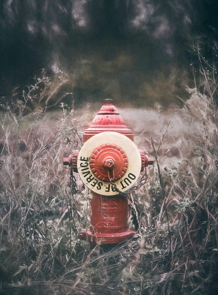 A fire hydrant, long out of service.