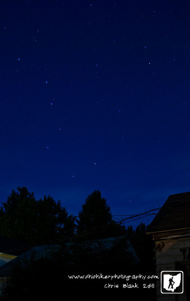 The big dipper was out and very obvious tonight.  Even though the moon is almost full, you could easily pick out many constellations tonight.