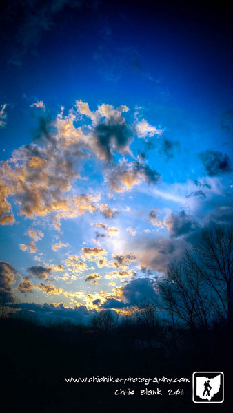 This was my first attempt at a vertical panorama.  It is a 5 position HDR panorama of this evening's sunset.