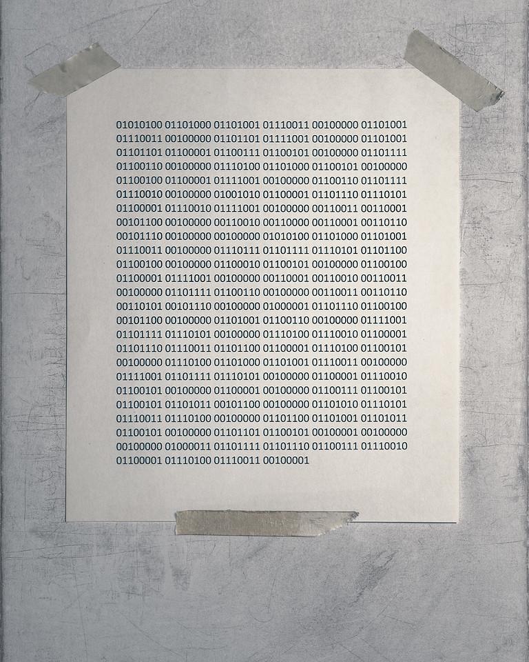Day 123 Binary code photograph