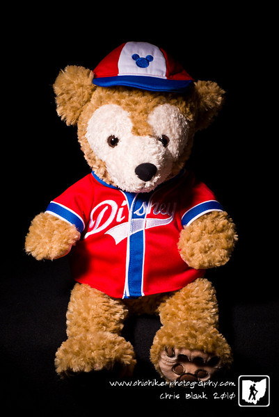 The story goes that Mickey Mouse was going on a journey and Minnie Mouse made him a bear to take with him on his travels.  Mickey named him Duffy.  So this is Duffy Bear, Disney's newest character and cuddly friend.