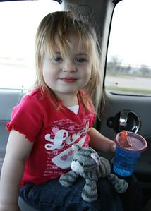 5/365 Sasha & Kitty playing in my car while waiting for Gia to pick up Sasha.